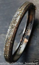 Cut Diamond Silver Bangle Jewelry Amazingly Antique Finished 5.30ct Genuine Rose
