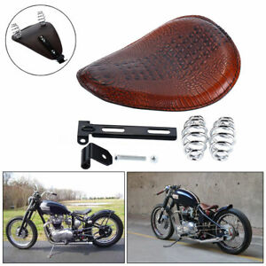 Brown Leather Solo Driver Seat Spring Bracket Kit For Harley Road King Glide