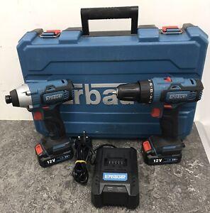Erbauer EDD12-Li-2 Drill & EID12-Li Impact Driver Twin Pack