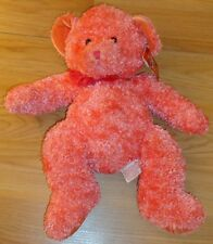 Russ Stardust Bear beanbag plush w/pink sparkle fur