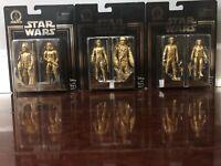 Star Wars Skywalker Saga Commemorative Edition Gold Figures 2-Pack All 3 Sets