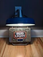 B. Vintage Budweiser Budlight Wall Clock And Light Sconce Sign