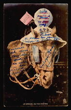 CA1900 HUMOR  LE CHEVAL DU TAXIMETRE ARTIST SIGNED HORSE TAXI CAB TUCK & SONS