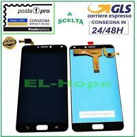 DISPLAY LCD ASUS Zenfone 4 Max ZC554KL X00ID X00IS TOUCH SCREEN VETRO NERO