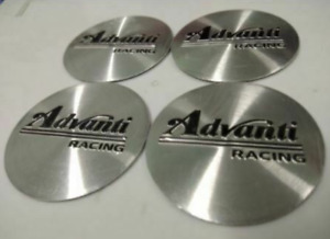 4pcs 45mm Advanti Racing Silver Wheel Center Stickers Rim Stickers Hub Stickers
