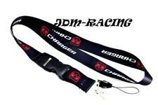 For DODGE CHARGER SXT R/T SE Black Lanyard Racing Keychain Quick Release New