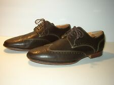 Cole Haan Brown Leather NikeAir Brogue Wingtips SZ 9.5 W Wide Nice!