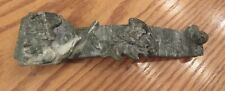 Vintage estate carved green stone Chinese Ruyi Wand 200mm