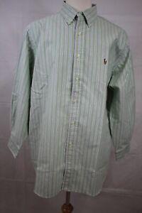 RALPH LAUREN Men's Long Sleeve Cotton Oxford Button Down Dress Shirt 17.5 32/33