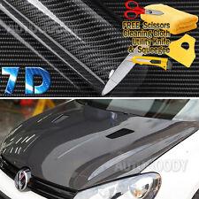 "108"" x 60"" Super Gloss 7D Black Carbon Fiber Vinyl Air Bubble Free 9ft x 5ft 6D"