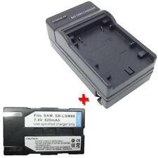 Battery&Charger for SAMSUNG SC-DC173 SC-DC173U SC-D372 SC-D371 DVD DV Camcorder