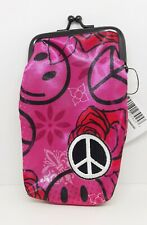 Ninc Cloth Pink With Peace Sign 100s Cigarette Pack Case