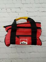 Vintage 90s Marlboro Insulated Soft-Sided Red Lunch Box Food Drink Cooler VTG