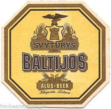 Beer Mat: Svyturys Baltijos (Svyturys Brewery, Klaipeda, Lithuania) (Yellow)