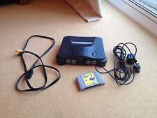 Nintendo 64 Jeu vidéo console + câble S-vidéo + EARTHWORM JIM 3D N64 PAL