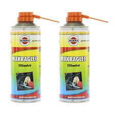 2x MAKRAGLEIT 700 400ml Silikonspray Gleitmittel Spray Silikonfett // 201-66