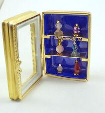 NEW FRENCH LIMOGES TRINKET BOX PARFUMS DE PARIS DISPLAY CASE W/ PERFUME BOTTLES