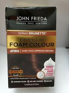 John Frieda Precision Foam Permanent Hair Colour in 4PBN Dark Cool Espresso B...