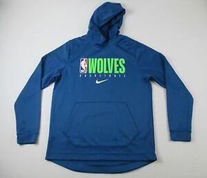 Minnesota Timberwolves Nike Sweatshirt Men's Blue Poly Used L