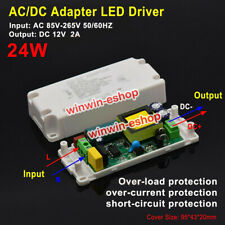 Ac Dc 12v 2a 24w Converter Led Driver Adapter Switching Power Supply Transformer