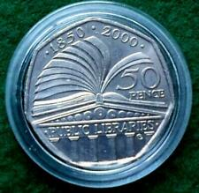 2000 Public Libraries. 50 Pence Coin.