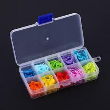120pcs/Box 10 Colors Knitting Accessories Crochet Locking Stitch Markers Tools