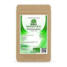 Zitronensäure 1Kg  in Lebensmittelqualität Bio Reiniger von Bio Protect