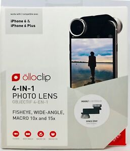 olloclip 4-IN-1 Lens Set, Objektive für iPhone 6 und iPhone 6 Plus, schwarz grau