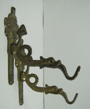 Dauphin Koi Devil Fish Pair Hangers Hooks Figural Brackets Man Woman Hardware
