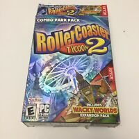 Rollercoaster Tycoon 2 PC Combo Park Pack Complete 2003