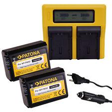 Caricabatteria Dual LCD + 2 Batteria PATONA SONY NP-FW50 NPFW50 NPFW 50 NEX3D