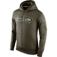 Seattle Seahawks Hoodie Men's Sweatshirt Salute to Service Sideline Pullover Top