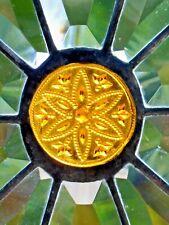 Bleiverglasung Facetten- Fensterbild mit Jugendstil- Relief in Tiffany