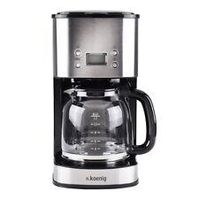 Edelstahl Kaffeemaschine 12 Tassen 1000 Watt mit Timer H.koenig MG30