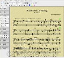 PM Music Score Creator Writing Write Sheet Music Score NEW Software Program on C