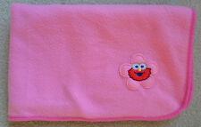 "Pink Elmo Baby Blanket Sesame Workshop 2010"" Plush Security Blanket"