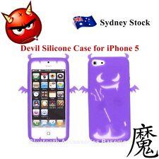 Devil Silicone Case Cover for Apple iPhone 5 (Purple)