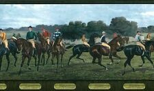Horse Wallpaper Border Racing Jockeys Blue Green Brown 5806285 FREE Ship
