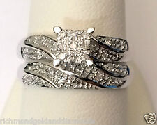 Her  Woman Diamonds Wedding Ring Bands Bridal Set  White Gold