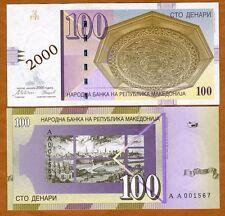 Macedonia, 100 Denari, 2000, P-20, UNC > Commemorative Millennium