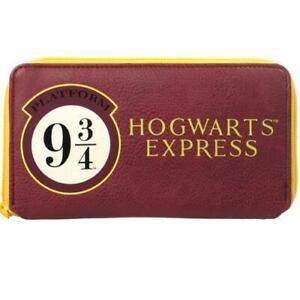 Harry Potter Hogwarts Express Women Girls Coin & Card Clutch Purse Wallet 9 3/4