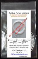 Monofilament Tapered Furled Leader  - Select photo to see all options
