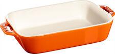 Staub Cerámica Fuente para Gratinar Plato Hornear, Rectangular Naranja 14x11 Cm