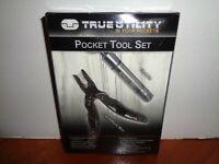 True Utility Pocket Muti Tool Set Framework Mini & FireLite Flashlight Lighter