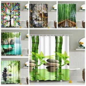 Fabric Waterproof Bathroom Shower Curtain Bath Curtain Artistic New