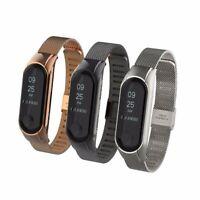 Wrist Smart Bracelet Stainless Steel Mesh Watch Band Strap For Xiaomi Mi Band 3