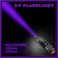 UV Light Powerful IR Flashlight Torch 400nm 3 Mode Tactical Adjustable Focus
