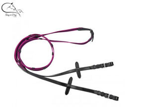 Busse Colourful Rubber Reins Super Grip Red/Green/Blue/Pink Pony/Full FREE P&P