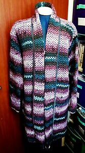 WOMEN'S OVERSIZED CROCHET JACKET TO FIT SIZE 14 TO 16