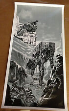 Tim Doyle Star Wars Unreal Estate Variant B&W Nakatomi Posters S/N 102 /150 Rare
